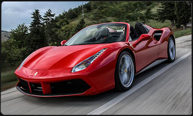 F488 Spider car rental Monaco