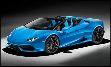 Huracan  Spyder car rental Saint-Tropez